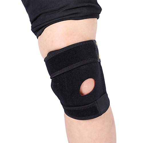 Estink Kniebandage für Kniescheibe und Ligamentar, Kniebandage mit Stützring mit offenem Kugelgelenk, verstellbar, Neopren, links oder rechts