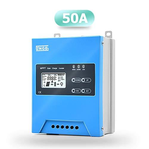 SolaMr MPPT 50A Solarladeregler 12V/24V/48V Intelligente Identifizierung Buck Solarladeregler Solarpanel-Batterieregler mit LCD-Display Temperatursensor RS485-Schnittstelle - 50A