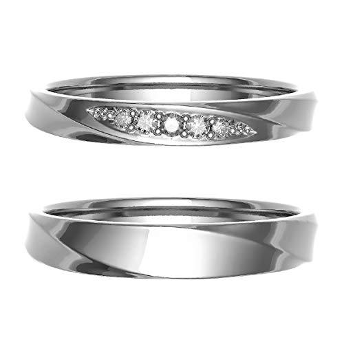 [ココカル]cococaru ペアリング 結婚指輪 プラチナ Pt900 2本セット マリッジリング 日本製 (レディースサイズ7号 メンズサイズ10号)