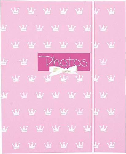 goldbuch Leporello Kleine Prinzessin, Kinder Fotoalbum für 10 Fotos im 13x18 cm Format, Bilderalbum mit Kunstdruck und elastischem Band, Ziehharmonika Fotobuch, Papier, Rosa, ca. 15,5 x 19 x 0,8 cm
