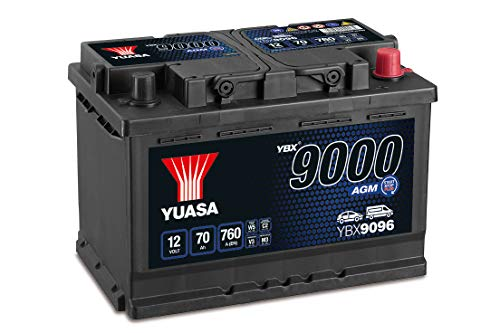 Yuasa YBX9096 12V 70Ah 760A AGM Start Stop Plus Battery