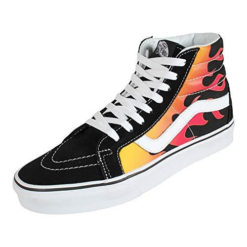 Vans SK8-Hi Flame Sneaker schwarz/rot EU43 Leder, Textil Rockabilly, Rockwear, Streetwear