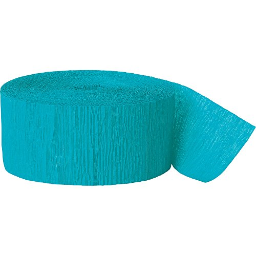 81ft Teal Crepe Paper Streamers