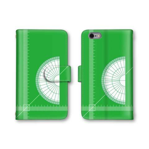 Xperia Z3 SO-01G スマホケース 手帳型 分度器 グリーン 4番 スマホカバー かわいい おしゃれ 携帯カバー SO-01G ケース エクスぺリア