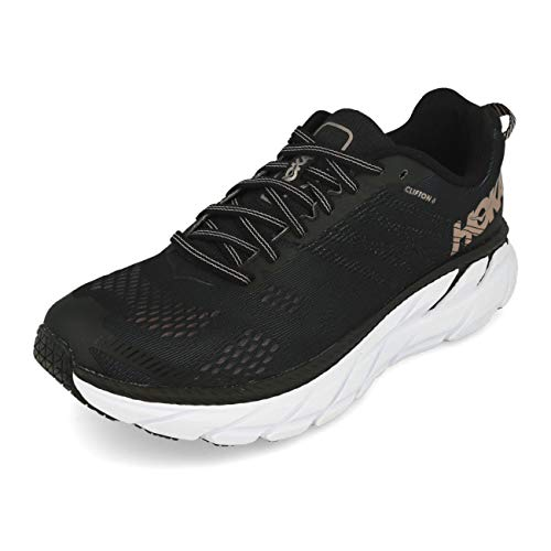 HOKA ONE ONE Clifton 6 Women's Running Shoes Black Rose Gold - 9