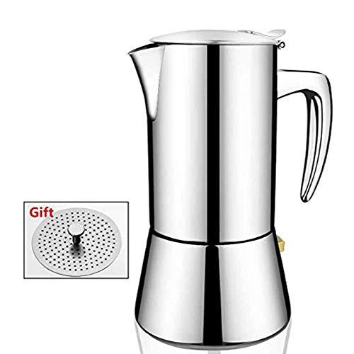 Stainless Steel Italian Espresso Coffee Maker,Stovetop Espresso Maker Machine for Gas & Electric Stovetop,Moka Express,3-4 Cups Moka Pot