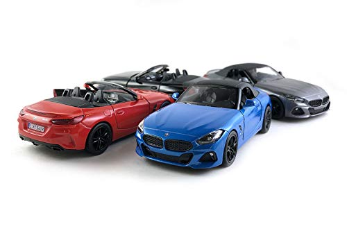 HCK Set of 4 2020 BMW Z4 Soft Top and Convertible Diecast Model Toy Sport Cars (Red/Blue/Black/Grey) -  0102