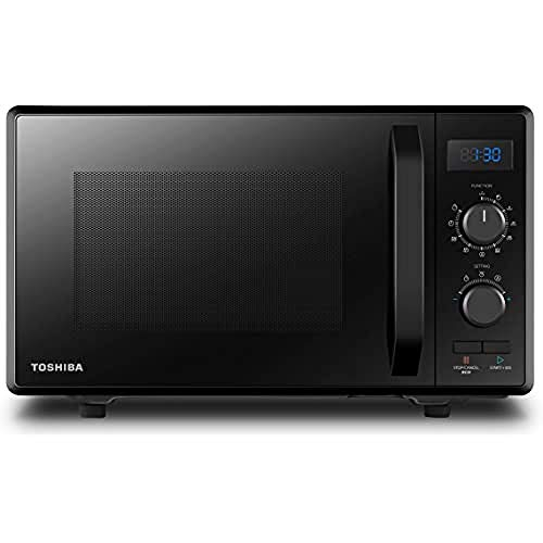 Toshiba 900 w 23 L Microwave Oven with 1050 w Crispy Grill, Energy Saving Eco Function, 8 Auto Menus, 5 Power Levels and Position Memory Turntable - Black - MW2-AG23PF(BK), Amazon Exclusive
