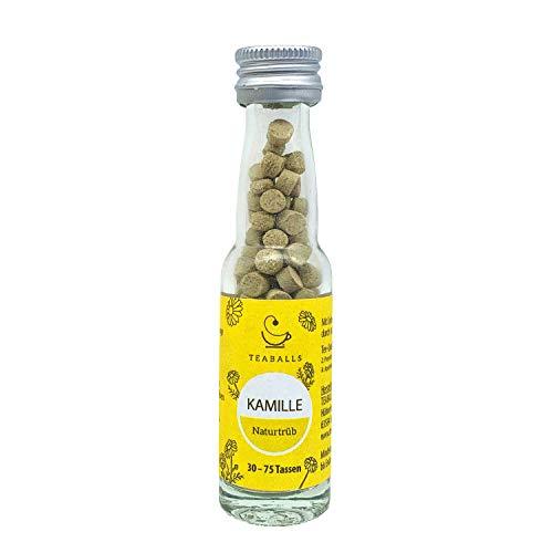 TEABALLS – Manzanilla, color marrón natural (1 x 12 g) | aprox. 150 bolas de té | para aprox. 30 – 75 tazas de té | 100 % puramente vegetal | conocido por el Din del año