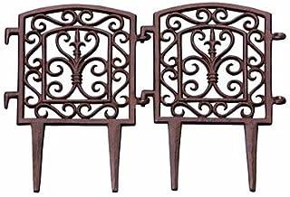 BestNest Esschert Design Square Frame Garden Fence, Rust, Pack of 12