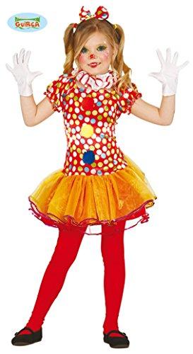 Clown Kostüm für Mädchen Gr. 98 - 146, Größe:98/104