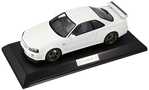 Hobby JAPAN 1/18 ニッサン スカイライン GT-R V・スペック 1999 (BNR34) ホワイト 完成品