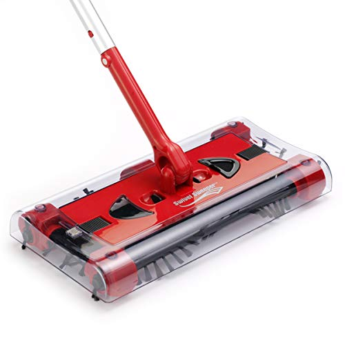 JML Swivel Sweeper - Battery-powered lightweight floor sweeper that gets...