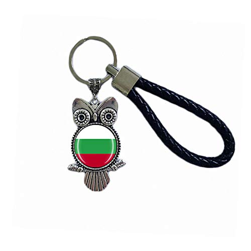Time Traveler Go Bulgarien Kreativer Tier-Eule-Schlüsselanhänger Rucksack Anhänger Geschenk Tüte Dekoration Reise Souvenir