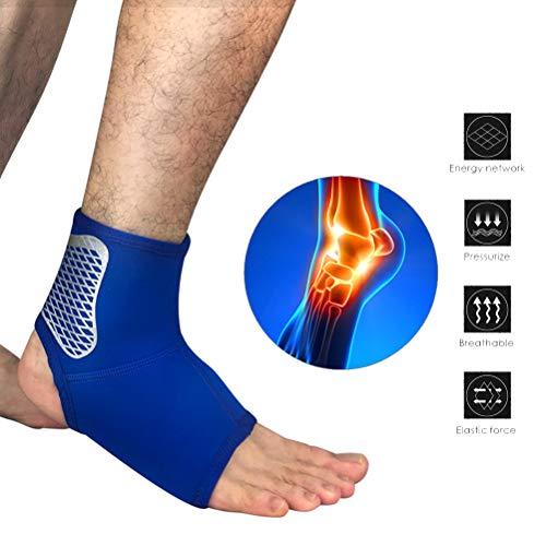 Knowooh Sprunggelenkbandage Atmungsaktiver Knöchelschutz Sportschutzausrüstung Fußgelenkbandage geeignet für Damen Herren und Kinder(Blau/S)