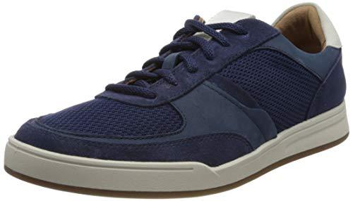 Clarks Bizby Lace, Zapatillas Hombre, Color Azul Oscuro Combi, 46 EU