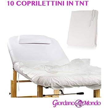 Copri Lettino Massaggio Spugna.Coprilettino In Spugna Con Angoli Elastici 100x200 Cm Per Lettino
