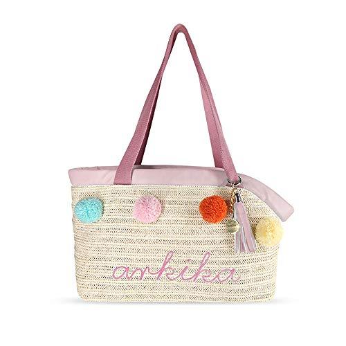 WY-huisdier tas huisdier tas/huisdier rugzak Bohemian zomer waterdichte ademende geweven huisdier draagtas, B, roze