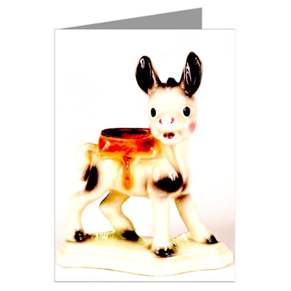 Vintage Kitsch Donkey Ceramic Collectibles Notecard Set