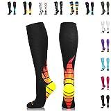 NEWZILL Compression Socks (20-30mmHg) for Men & Women (i-Fire, Small)