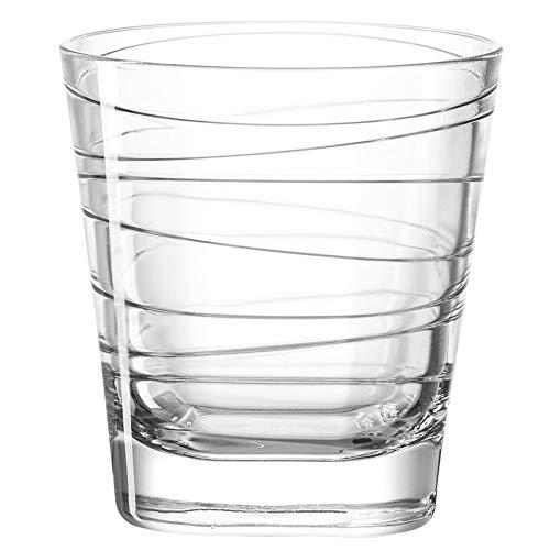 Leonardo Vario Struttura Wasser-Gläser, 6er Set, spülmaschinengeeignete Saft-Gläser, Trink-Becher aus Glas mit Muster, Getränke-Set, 250ml, 019449
