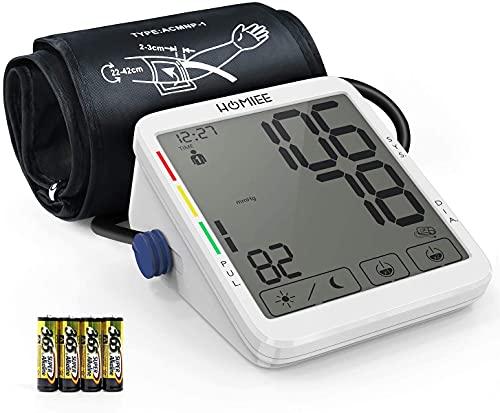 HOMIEE Tensiómetros de Brazo Digital, Monitor de Presión Arterial con Pantalla 5.5