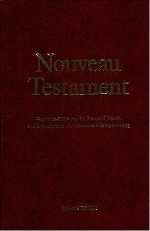 Nouveau Testament : Edition reliure balacron