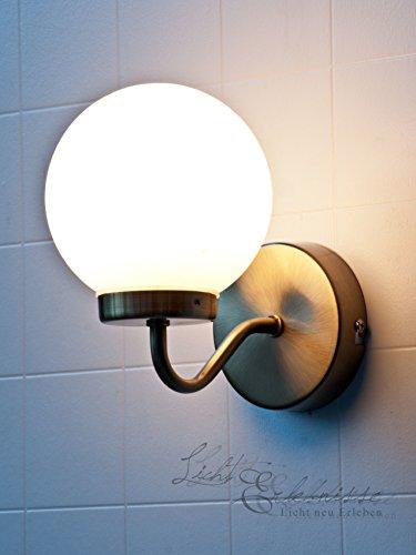 Edle Wandleuchte IP20 Badezimmer in Bronze Weiß E14 Jugendstil Wandlampe Badleuchte