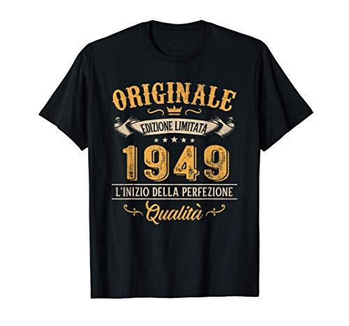 Originale Dal 1949 72 Anni Di Compleanno Uomo Donna Regalo Maglietta