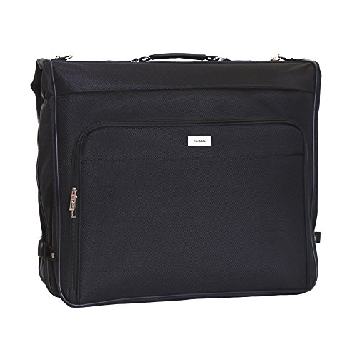 Karabar 3 Suit Pieces Travel Suits Garment Carrier Bag 40 Inch 1.95 kg 57 litres, Potton Black