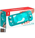 Newest Nintendo Switch Lite Game Console Bundle with 64GB Mazepoly Micro SD Card, 5.5' Touchscreen Display, Built-in Plus Control Pad, Turquoise