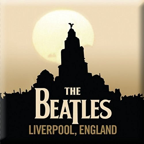 The Beatles Calamita da frigo Liverpool band logo nuovo Ufficiale 76mm x 76mm
