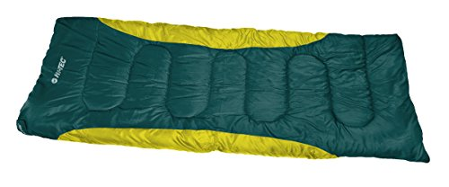 Hi-Tec BARI Sleeping Bags, Dark Green/Yellow Green, ONE Size