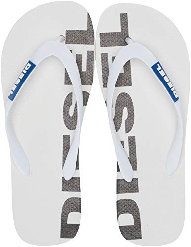 Diesel SA-BRIIAN-Sandals, Infradito Uomo, Star White Turco Sea Black, 41.5 EU