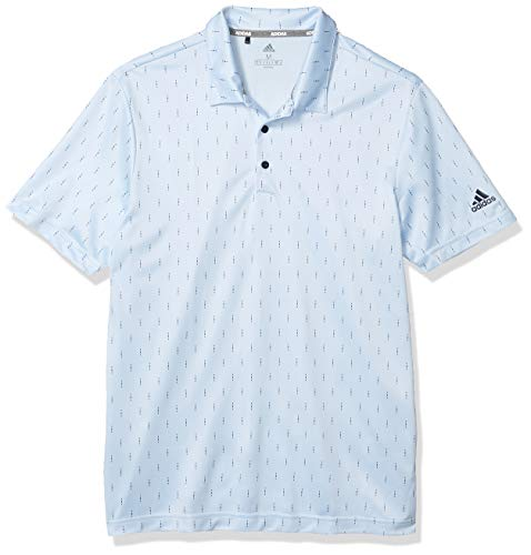 adidas Herren-Poloshirt mit Aufdruck, Herren, Polo, Novelty Print Polo Shirt, Sky Tint/Collegiate Navy, Large