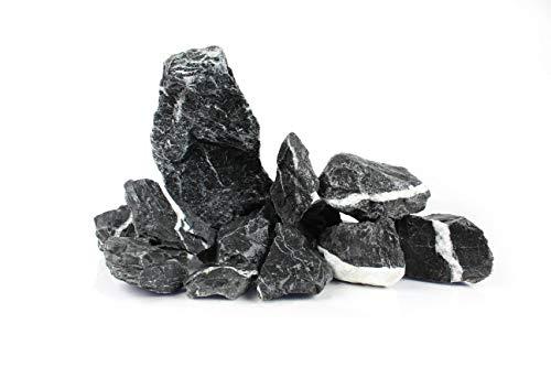 5kg naturbelassene dunkelgraue Steine für ein Aquarium, Aquariengestaltung, Iwagumi-Stil, Malawi