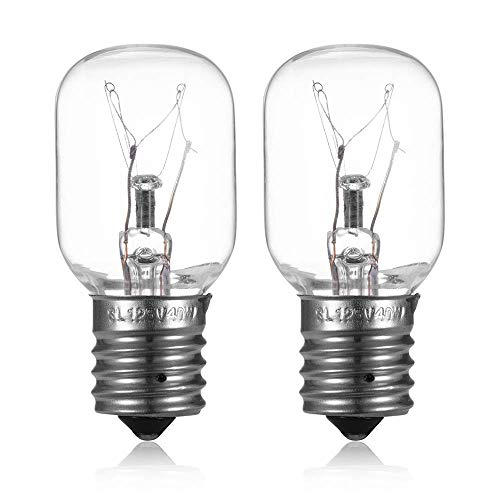 Light Bulb for Whirlpool Microwave - Microwave Light Bulb Lamp for Whirlpool Maytag GE Amana Over The Range Hood Microwave, Dimmable with 125V 40W E17 Base, Kitchen Night Light, Repalce 8206232A (2)