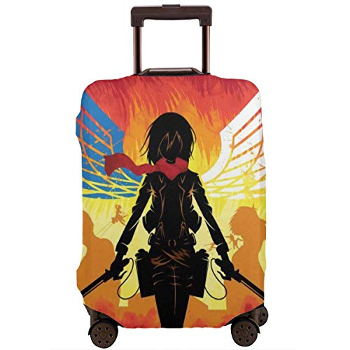 IUBBKI Travel Luggage Cover Attack Titan Travel Luggage Cover Suitcase Protector FitSch Washable Baggage Covers