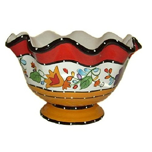 Viva Collection Deluxe Hand-Painted Ceramic Fruit Bowl