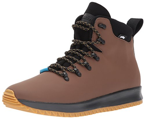 Native Shoes Men's Ap Apex Boot Rain, Howler Brown CT/Jiffy Black/NAT Rubber, 8 M US