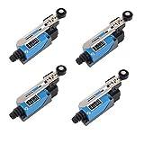 Finecorsa Regolabile, DBAILY 4pcs Affidabile Finecorsa Interruttore Alte Prestazioni per Laminatoio Controllo Elettrici Meccanica (ME-8108)