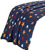 Dreamscene Star Print Überwurf Decke, Tagesdecke, mehrfarbig