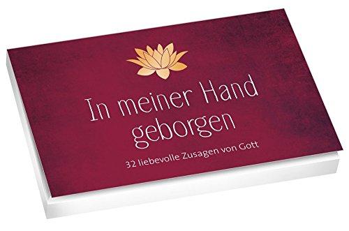 In meiner Hand geborgen - Textkarten: 32 liebevolle Zusagen von Gott
