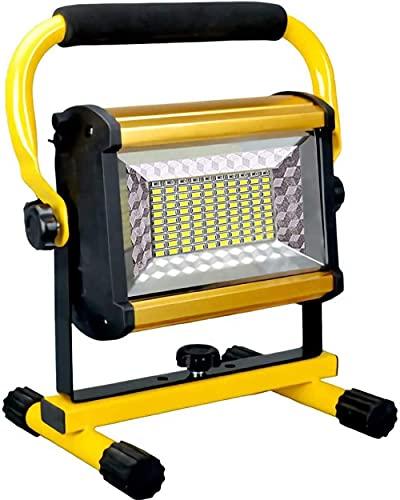 8000LM 100W FLUYALLOS Recargables Luz de Trabajo LED portátil [100leds 1000W Equivalente] Impermeable LED de inundación LED al Aire Libre para Acampar Senderismo Emergencia Reparación de automóvi