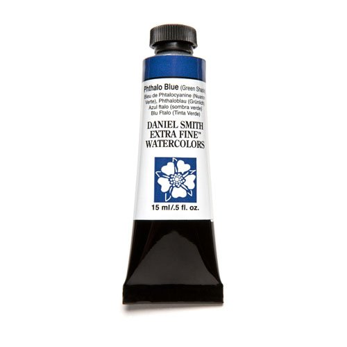 DANIEL SMITH Extra Fine Watercolor 15ml Paint Tube, Phthalo Blue Green Shade