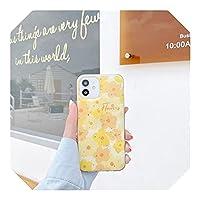 Liaog かわいいキラキラデイジーフラワーフォンケースFor iPhone12 mini 11 Pro Max 7 8 Plus SE 2020 X XR XSMaxバックカバーシリコンソフトケース-QY321-1-For-For iPhone12mini