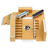 スケートパークキットパーツフィンガーボードランプレールスケートパークフィンガーボードハンドレールミニスケートボードアクセサリーゲームおもちゃ5pcs 8pcs 11pcs (5pcs)
