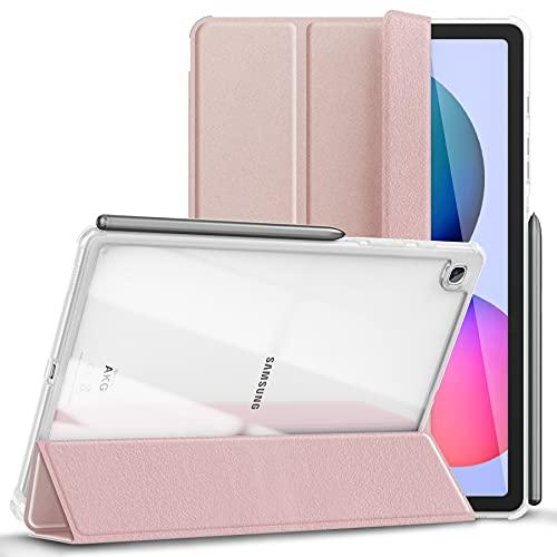 Kdely Custodia Compatibile con Samsung Galaxy Tab S6 Lite 10.4  2020 Cover Protettiva con Pencil Holder   Auto Svegliati Sonno Semi-Trasparente Case Ultra Sottile Tablet