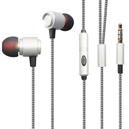 Hi-Fi Sound Wired Earphones for Galaxy A01 A10e A11 A21 A20 A50 A51 A71 - Headphones Handsfree Mic Headset Metal Earbuds Compatible with Samsung Galaxy A71 5G A51 A50 A21 A20 A11 A10e A01