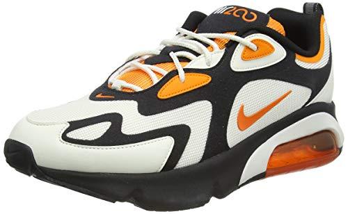 Nike Air Max 200 Mens Running Trainers CI3865 Sneakers Shoes (UK 8 US 9 EU 42.5, Black Magma Orange sail 004)